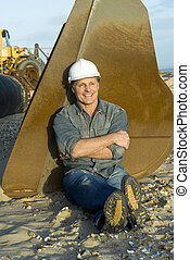 happy smiling construction worker. - happy smiling ...