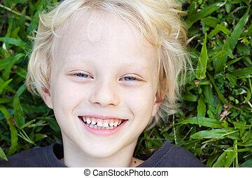 Happy smiling cute boy
