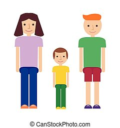 Happy smiling familly couple in love vector characters with...