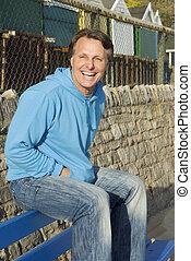 happy smiling forties man. - happy smiling forties man...