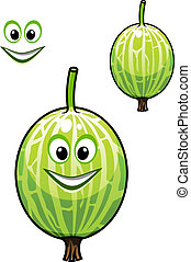 Happy smiling fresh Chinese gooseberry