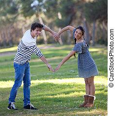 heart love couple