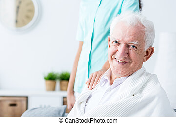 Happy smiling senior man
