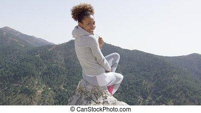 Happy smiling sportive woman