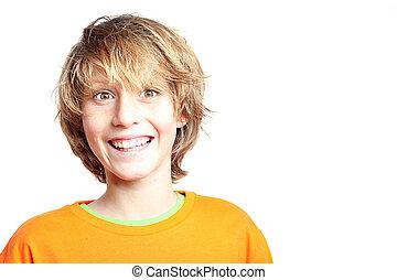 happy smiling surprised kid