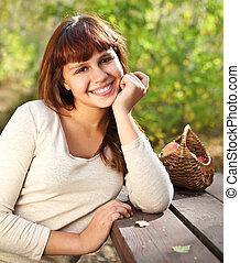 Happy smiling teen girl