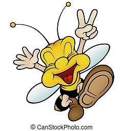 Happy Smiling Wasp