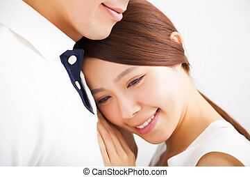 Happy Smiling young Couple in love