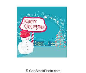Happy snowman card