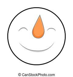 Happy Snowman Smile Face