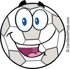 Happy Soccer Ball Cartoon Character