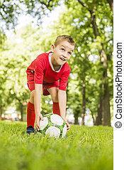 Happy Soccer Boy