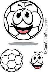 Happy soccer or football ball character
