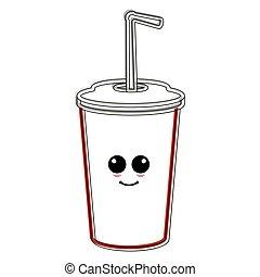 Happy soda glass