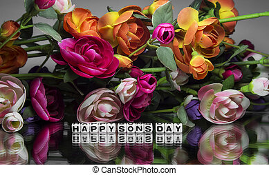 Happy sons day with flowers