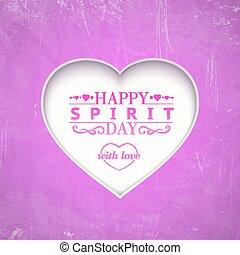 Happy spirit day heart.