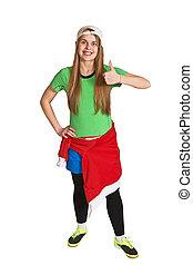happy sportswoman