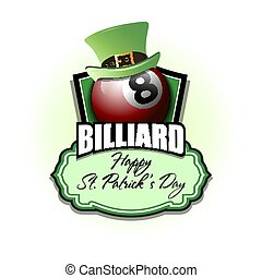 Happy St. Patrick day and Billiard ball