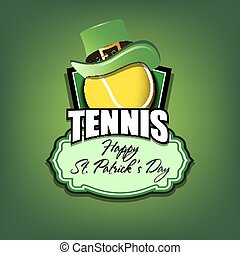 Happy St. Patrick day and Tennis ball