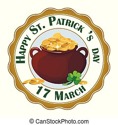 Happy St. Patrick Day design element. EPS 10 vector, grouped for easy editing