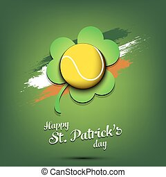 Happy St. Patrick's day and tennis ball