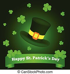 Happy St. Patrick's Day Greeting on Green