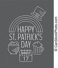 Happy St. Patricks day grunge vintage poster.