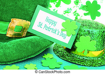 Happy St Patricks Day - Happy St Patrick's Day tag with...