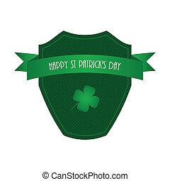 Happy St. Patrick's day label