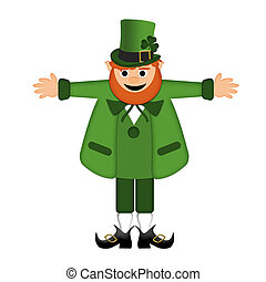 Happy St Patricks Day Leprechaun Arm Stretched