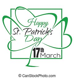 Happy St. Patricks Day lettering card. Typographic design