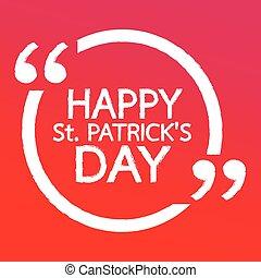 HAPPY St. PATRICK'S DAY Lettering Illustration design