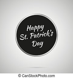 Happy St. Patricks Day Lettering On Black Template