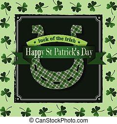 Happy St Patricks Day Lucky Horseshoe