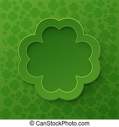 Happy St. Patrick's Day Poster. Clover frame