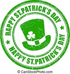 Happy St Patrick's day rubber stamp