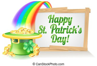 Happy St Patricks Day Sign - A St Patricks Day sign Happy...