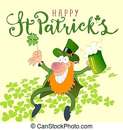 Happy st Patricks leprechaun