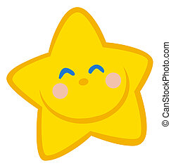 Happy Star  - Happy Grinning Yellow Star Face