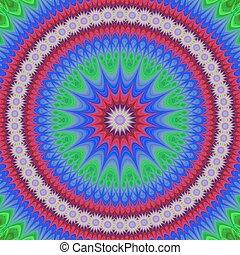 Happy star mandala fractal design background