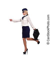 happy stewardess