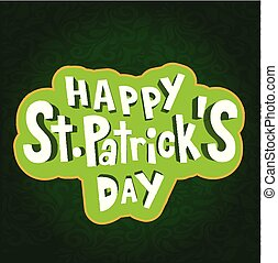 Happy St.Patrick's day Frame Green Background Vector Image