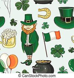 Happy st.Patricks day pattern