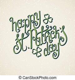 Happy St.Patrick's day - Stylish green St. Patrick's day...