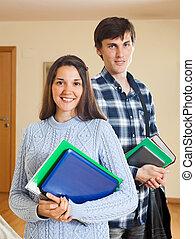 happy student couple