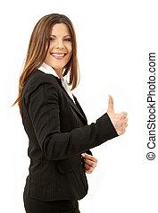 happy successful businesswoman - picture of happy successful...