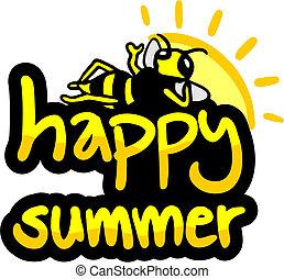 Happy summer - Creative design of happy summer
