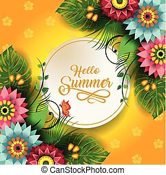 Happy Summer Flowers A