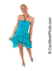 Happy summer girl - beautiful blond girl with a happy smile...