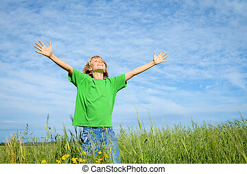 happy summer kid